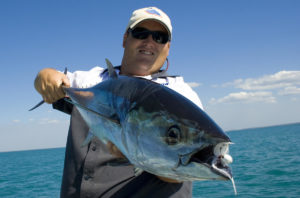 Chris with a Darwin Harbour Longtail Tuna